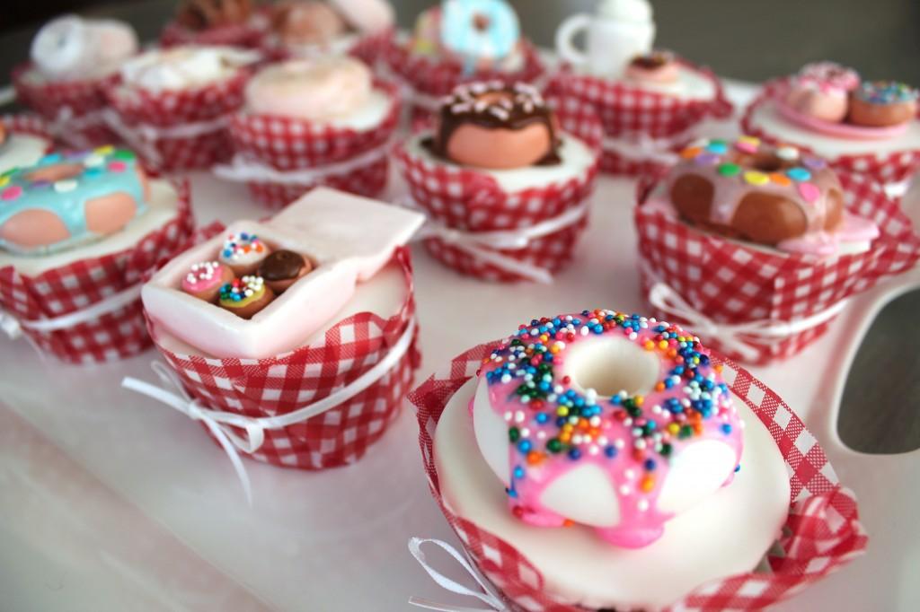 fondant doughnut topped cupcake