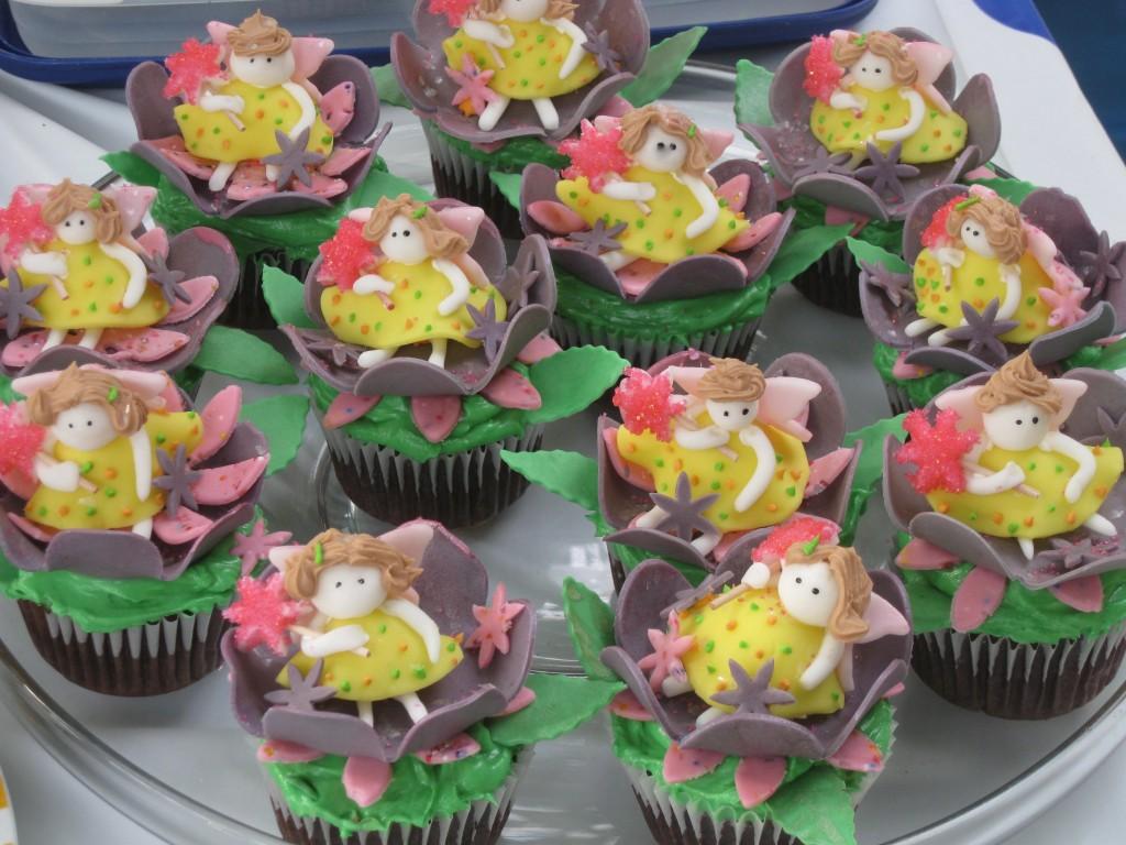 fondant fairy cupcakes