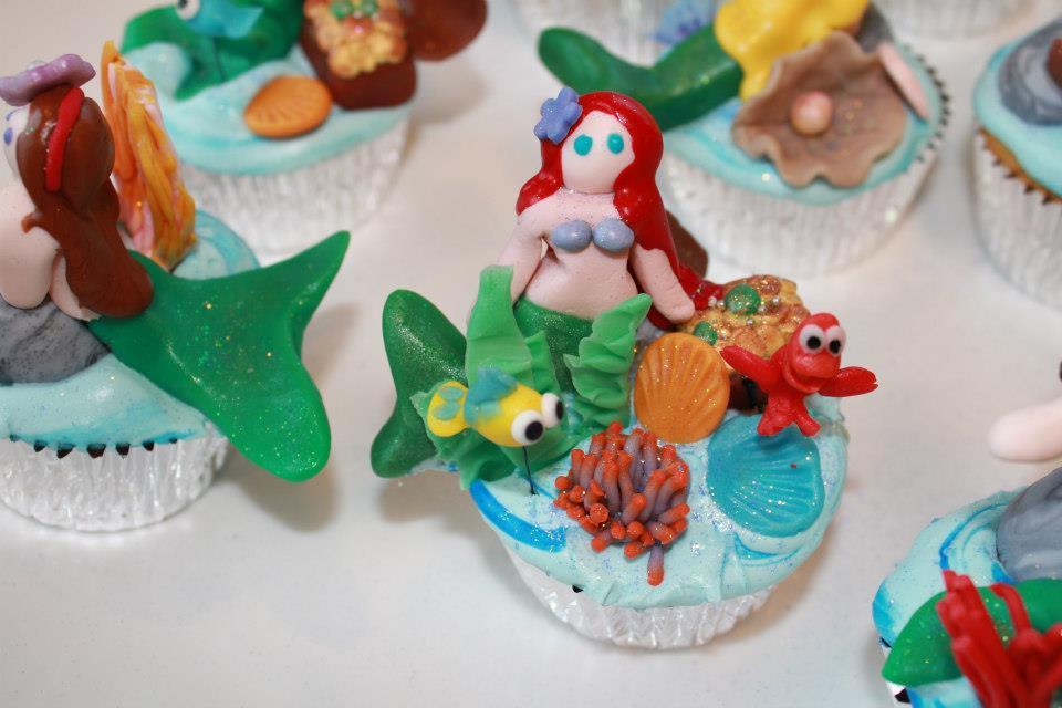 Fondant The Little Mermaid cupcakes