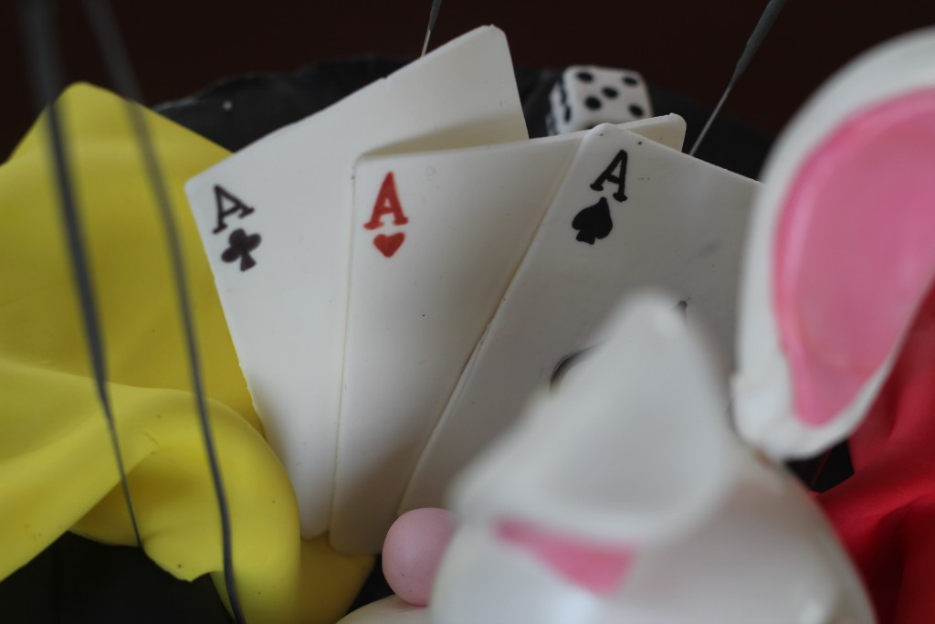 Fondant playing cards